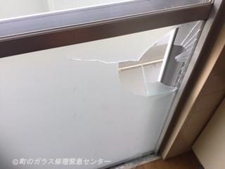 葛飾区 南水元 ガラス修理前