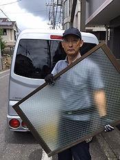 ガラス修理 作業中NO4