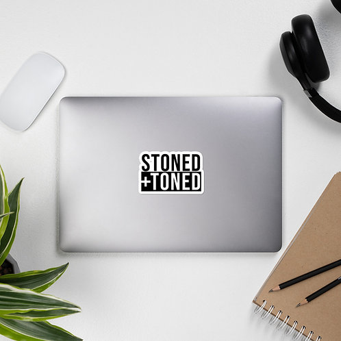 Stoned+Toned Sticker
