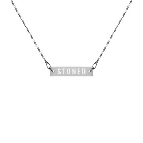 STONED Silver Bar Chain Necklace