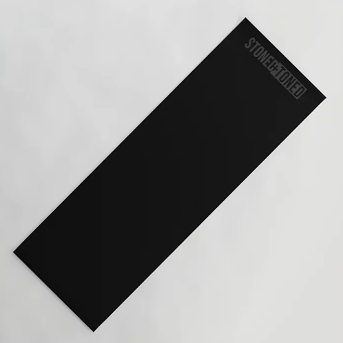 Black Logo Yoga Mat