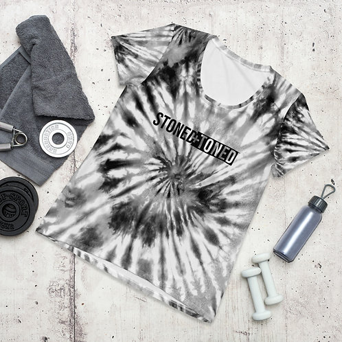 Women's Tie-Dye Print Athletic Tee