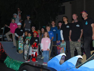KEEN RAMPS & SKATE KIDS go to the Belmont Shore Christmas Parade