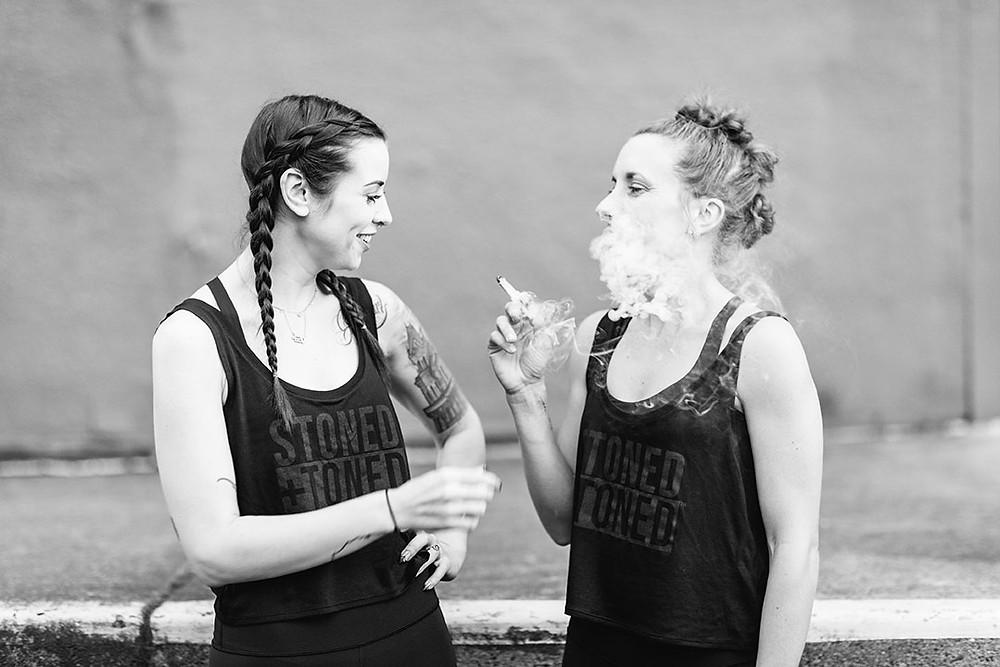 Morgan and Molly sharing a joint