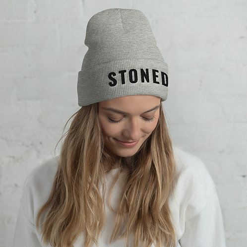 STONED Embroidered Beanie