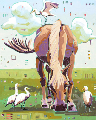 Hooves and Feathers - Print