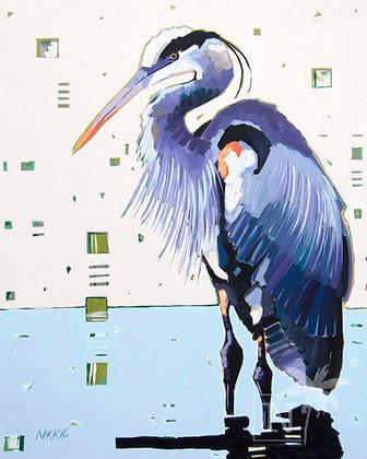 Blue Heron - Print