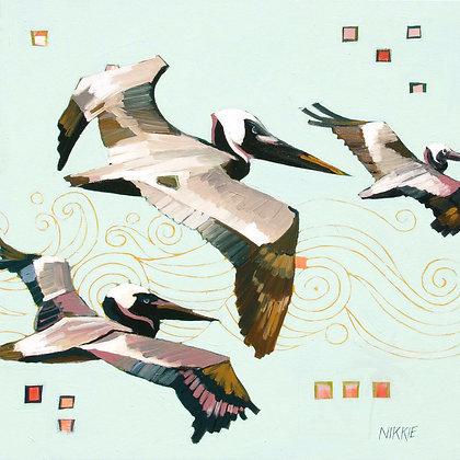 Coastal Pterodactyls - Print