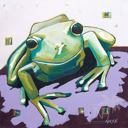 Frog On A Log - Print