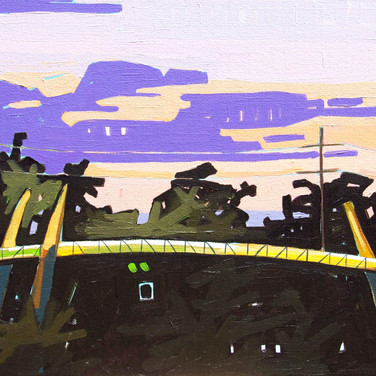 Sunset at Buffalo Bayou Bridge