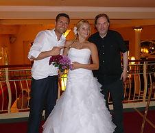 DJ JOE und Hochzeitspaar