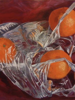 Oranges in a Plastic Bag