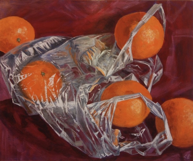 Oranges in a Plastic Bag