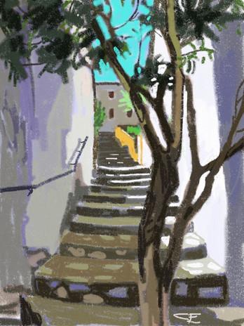 Street of Steps, Grazalema, Spain