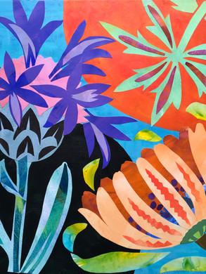Arrangement with Cornflowers
