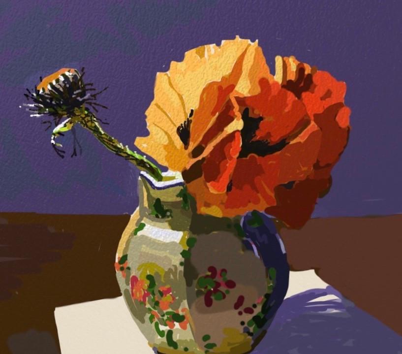 Poppy in a jug.