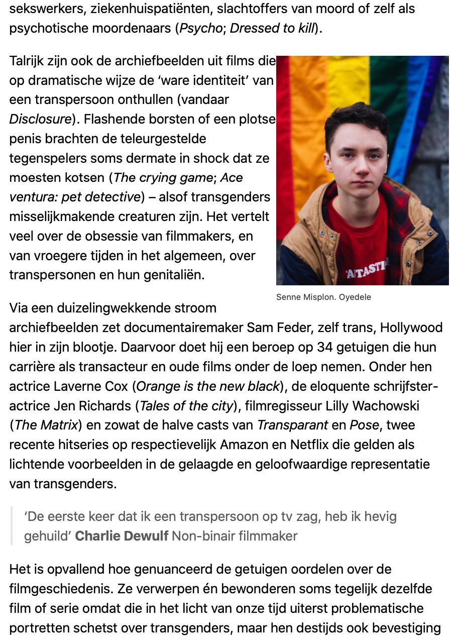 Interview - De Standaard d2