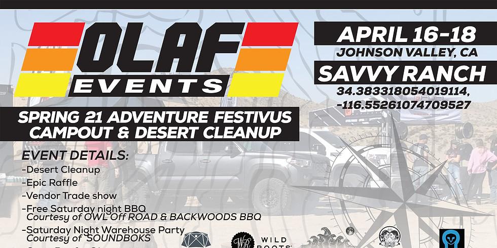 Spring '21 OLAF Adventure Festivus & Desert Cleanup