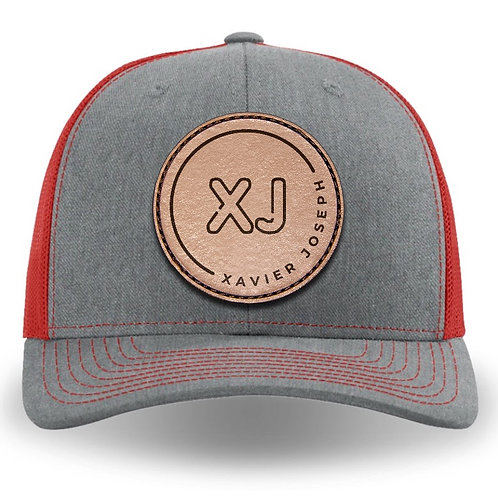 XJ 112 style cap (Gray and Red)