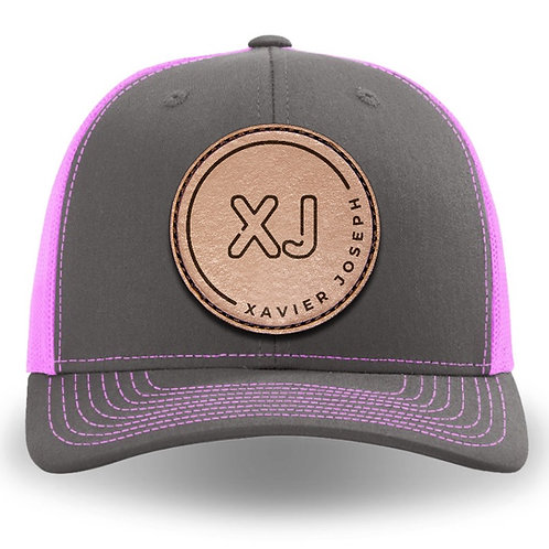 XJ 112 style Cap (Pink and Gray)