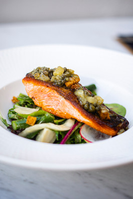 Pan seared ocean trout