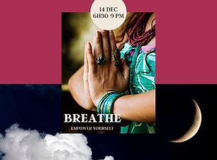 Beige Speckled Photo Yoga Workshop Socia