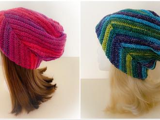 Crochet Slouchy Twist Beanie Hat