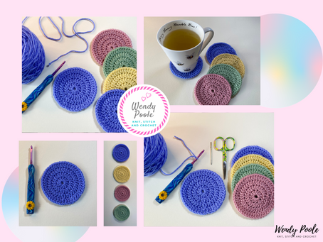 How to Crochet a Flat Circle and Create a Coaster Mat
