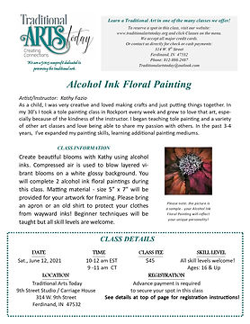Alcohol Ink Floral Painting