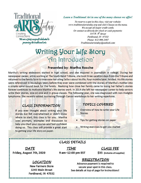Writing Your Life Story with Martha Rasche