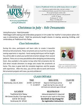 Christmas in July - Felt Ornaments