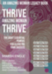 THRIVE AMAZING WOMAN Book Cover Mock-up.