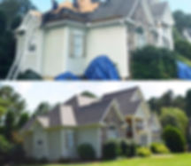 New Roof Before and After