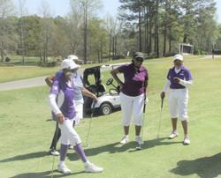 Girls golf too!