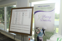 Swing Into Their Dreams Charity Golf Tournament Score Board