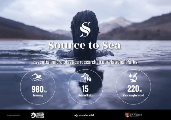 Campaigner Laura Sanderson will swim nearly 1,000 km through all 15 of the UK's national parks to collect hundreds of water samples, which will be analysed at Bangor University in North Wales