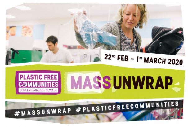 Increasing numbers of groups have pledged to join a mass supermarket protest against the use of plastic packaging - leaving unnecessary packaging at the tills. Surfers against sewage