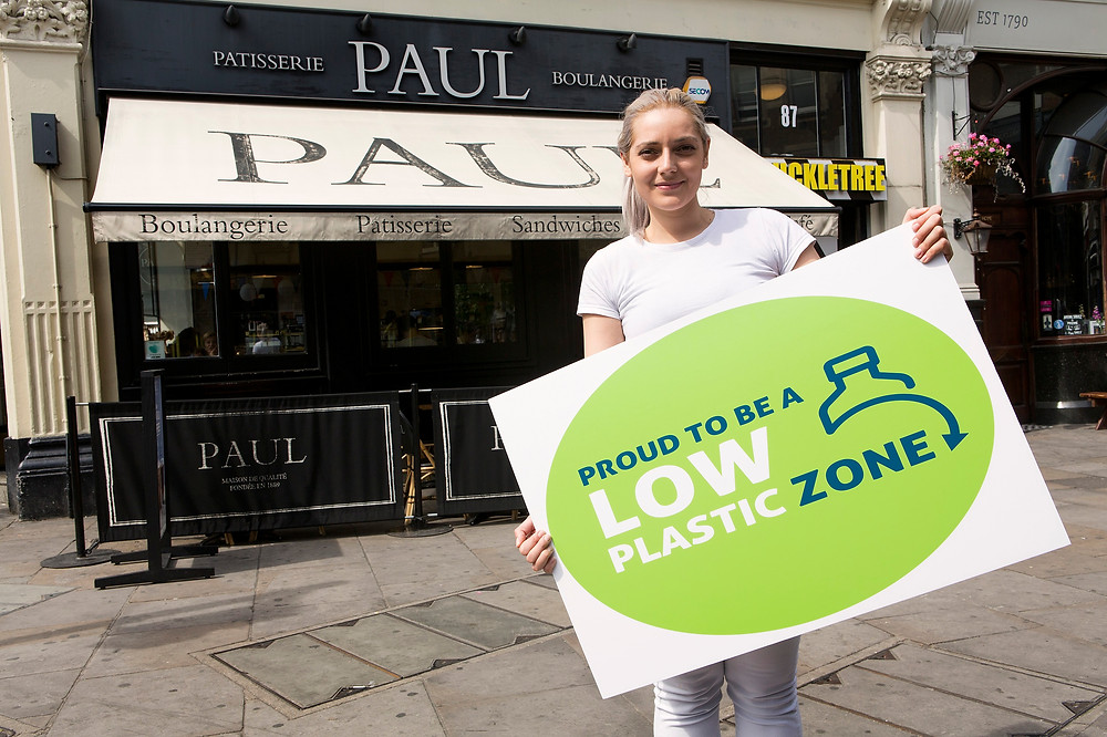 The Low Plastic Zone on Cowcross Street is an innovative, practical step towards   cutting down on single-use plastics and shows one of the many ways we are working with local people and businesses to tackle the climate emergency.