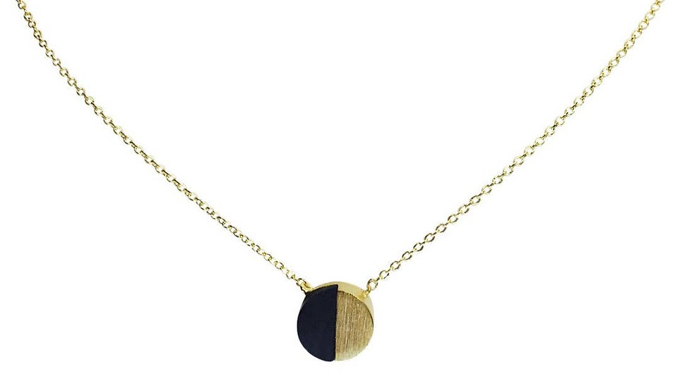 1/2 O black Necklace