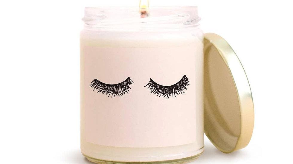 Eyelashes Soy Candle