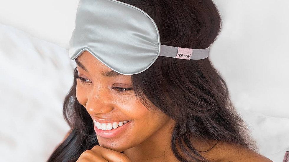 Silver Satin Eye Mask