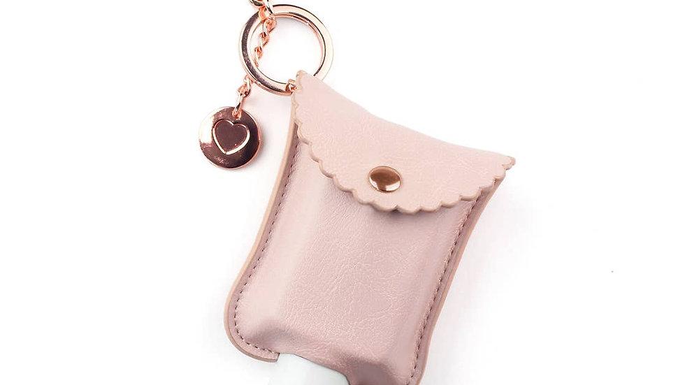 Blush Hand Sanitizer Charm Keychain