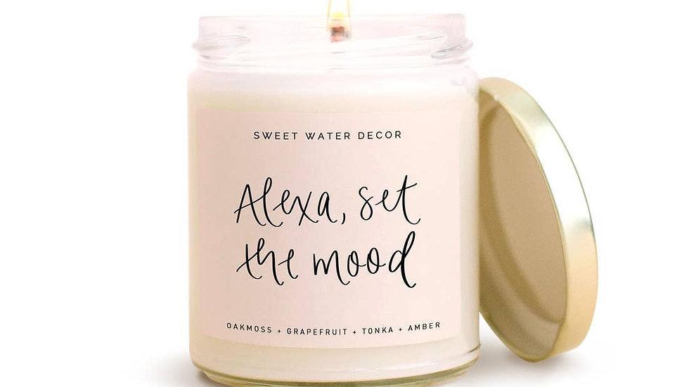 Alexa, Set The Mood Soy Candle
