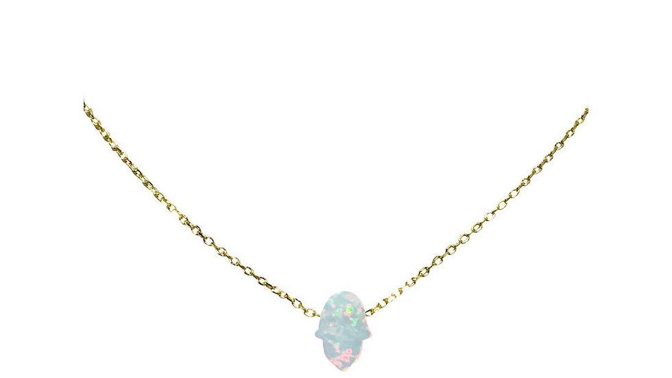 Blue Opal Hamsa necklace NK20276