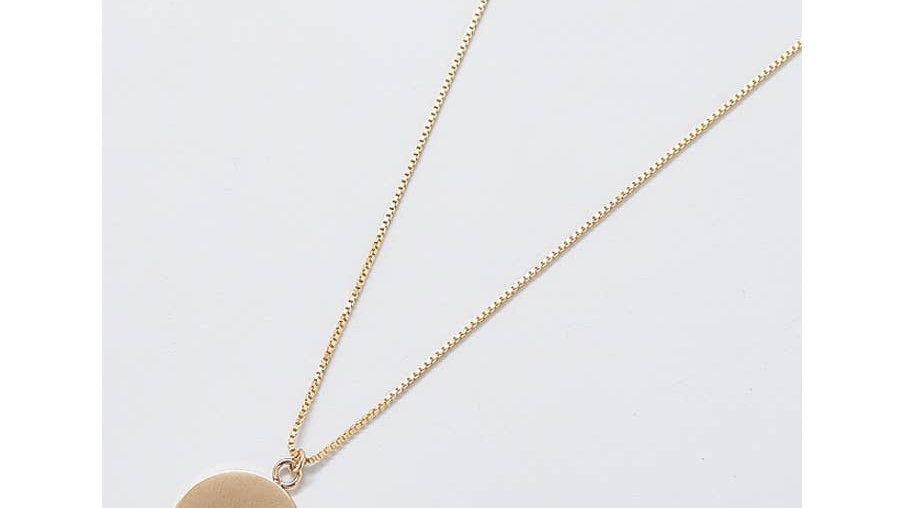 Pave Disc Coin Necklace