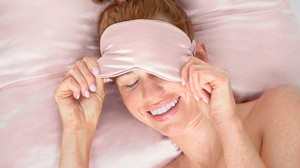 Blush Satin Eye Mask