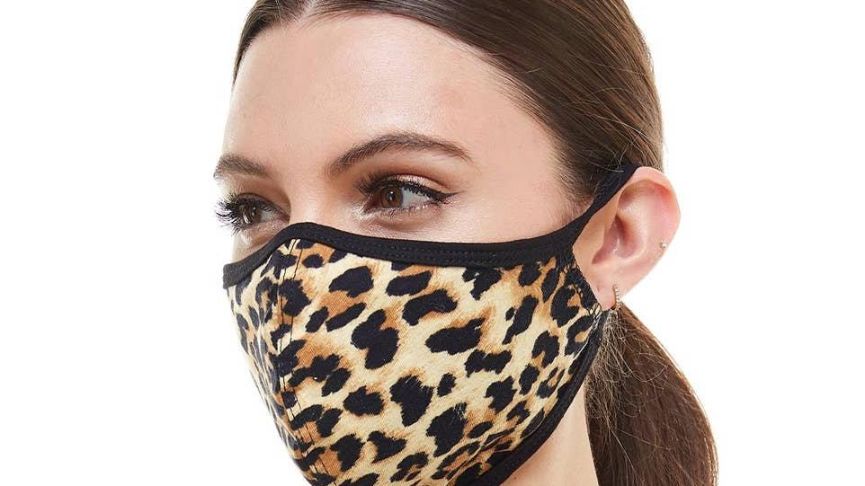 Face mask leopard animal fashion cloth reusable fabric