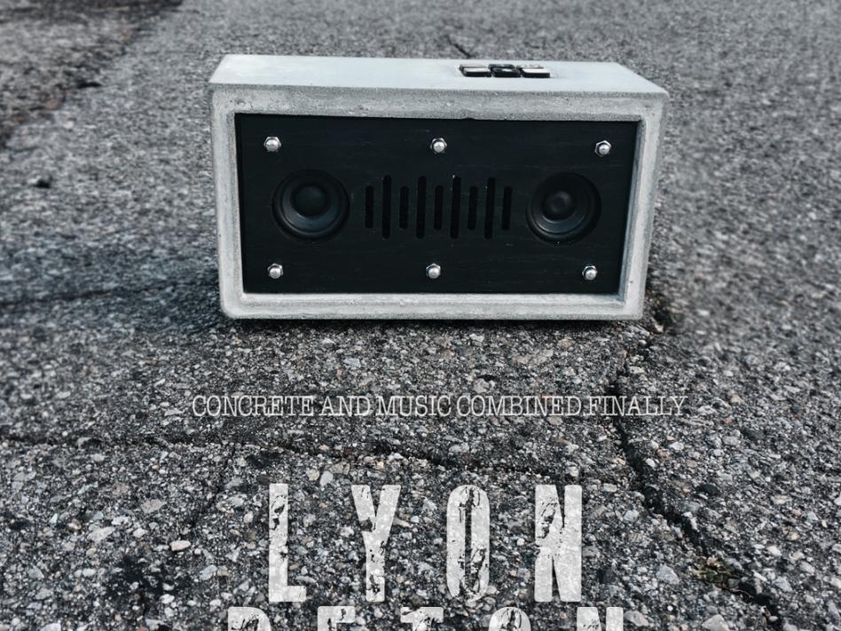 Beton Lyon Speaker   Speaker design