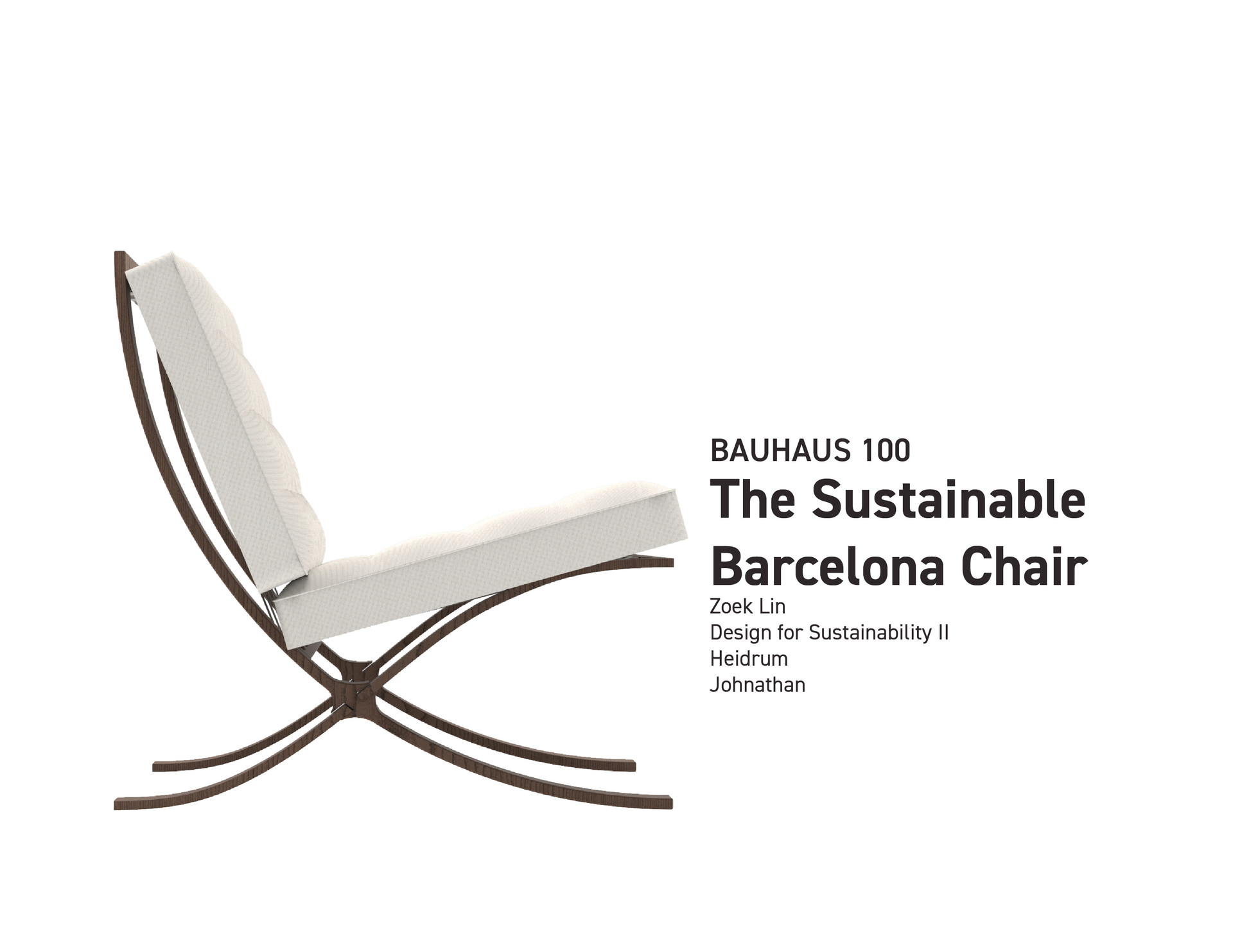 Redesign the Barcelona Chair [Recovered]