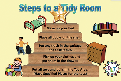 Steps to a Tidy Room